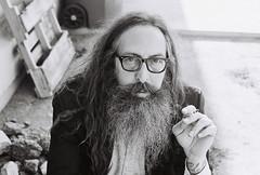 Professor (Photo4jenifer) Tags: white black film college hair beard glasses community rocks long cigarette tattoos smoking professor mesa sleeves