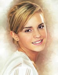 Retrato (zubillaga61) Tags: painterly girl chica retrato cara emmawatson corelpainter portrai retoque retouc