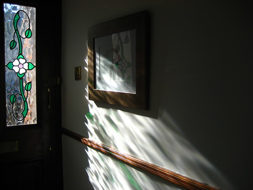 Sunshine and shadows in the hallway