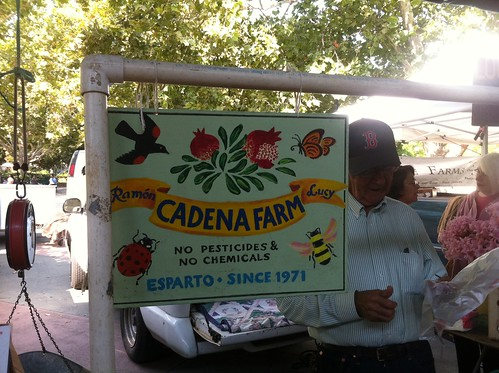 Ramón Cadena at the Davis Farmers' Market