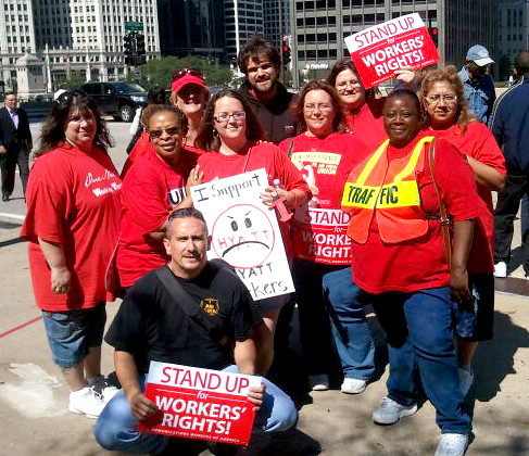 Local 4202 Pickets Hyatt Chicago
