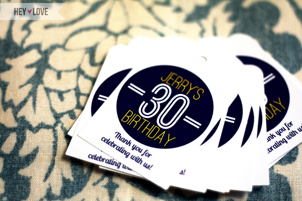 Jerry's 30th Birthday Favor Tags