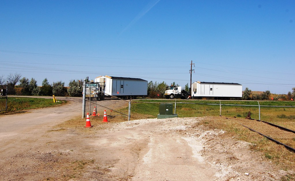FEMA manufactured homes - Velva, N.D. staging area
