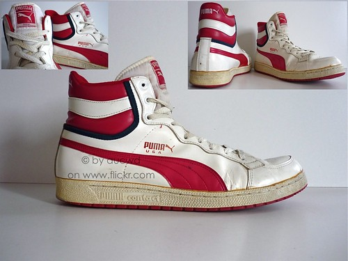 8dd9b58a395c89 70`S   80`S VINTAGE PUMA USA HI SHOES   HI TOPS - a photo on Flickriver