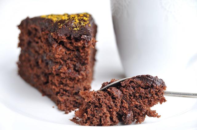 bolo de chocolate e courgette