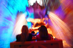 Don't Splash Me! (rpmckay) Tags: california longexposure blue summer color train waterfall mine disneyland disney mickey rollercoaster anaheim dca attraction californiaadventure disneylandresort bigthunderrailroad btmr