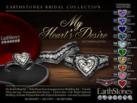 EarthStones Wedding Rings by Cherokeeh Asteria