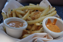 Pommes Frites (PirateTinkerbell) Tags: california ca food square outside restaurant cafe nikon orleans disn
