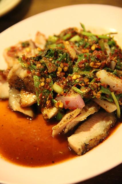 Grilled pork neck Thai salad