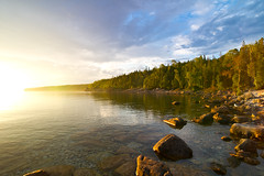 Misty Sunrise at Little Cove, Tobermory, Ontario, Canada (Christopher Brian's Photography) Tags: ontario canada sunrise nationalpark brucepeninsula tobermory littlecove canoneos7d