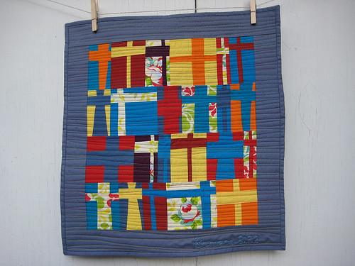 Modern Cross Quilt 2
