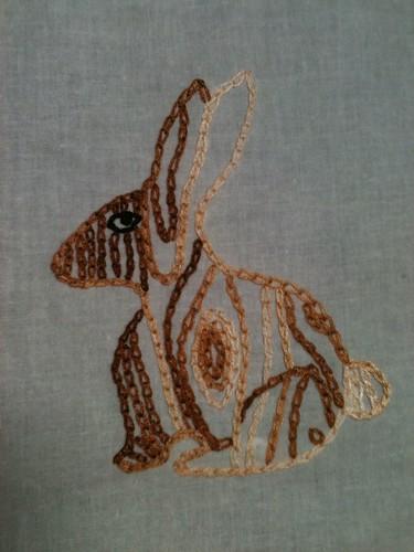 Faux bois bunny