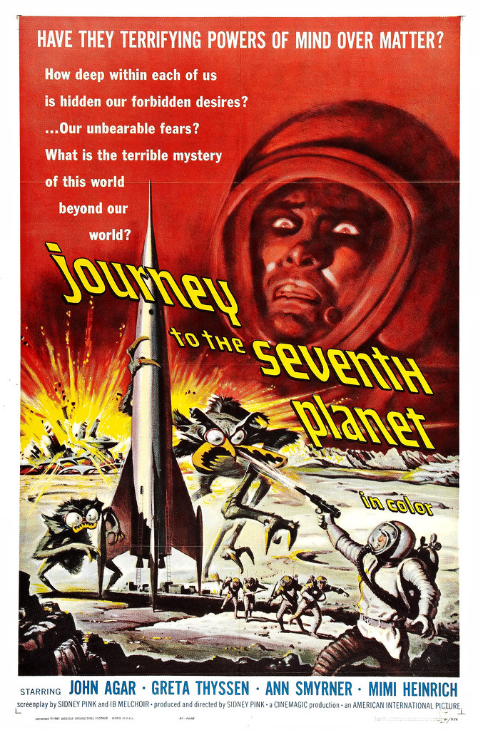 Journey to the Seventh Planet (American International, 1961) One Sheet