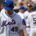 Jon Niese walks off the mound in disgust