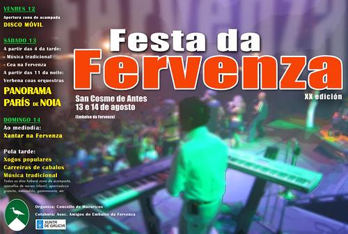 Mazaricos 2011 - Festa da Fervenza en San Cosme de Antes - cartel