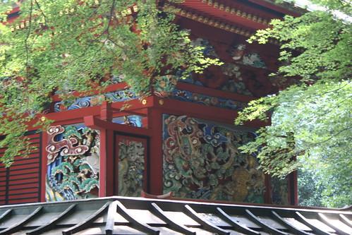 Decorated shrine