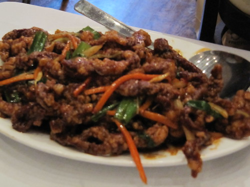 crispy shredded beef
