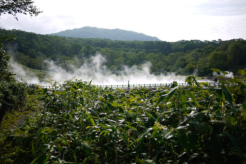 Onuma hot pools near Niseko, Hokkaido, Japan