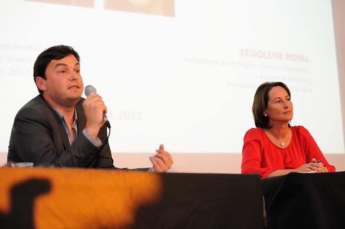 Thomas Piketty et Ségolène Royal