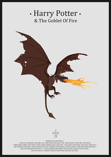 Harry Potter And the Goblet Of Fire - Minimalist poster