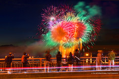 Viva Vancouver! (TIA International Photography) Tags: show camera bridge pink light red summer people canada west color colour men green beautiful yellow festival night vancouver america tia
