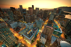 Downtown Vancouver Sunset (MagnusL3D) Tags: city sunset canada vancouver skyscraper nikon downtown britishcolumbia sigma wideangle columbia british vancouverbc hdr vancouverskyline vancouverdowntown d300 wow1 wow2 wow3 cityskape vancouvercity vancouversunset vancouverstreets abigfave colorphotoaward flickraward platinumheartaward 100commentgroup nikonflickrawardgold bestcapturesaoi elitegalleryaoi flickraward5 mygearandmesilver mygearandmegold mygearandmeplatinum flickrawardgallery sigma816 artistoftheyearlevel3 artistoftheyearlevel4 artistoftheyearlevel5 artistoftheyearlevel6