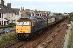 47237 on the rear of 5Z44 Bo'ness to Aberdeen (60044) Tags: west scotland tour rail railway loco class line aberdeen locomotive railways duff 47 boness sulzer caost srps carnoustie 47804 47237 advenza 5z44
