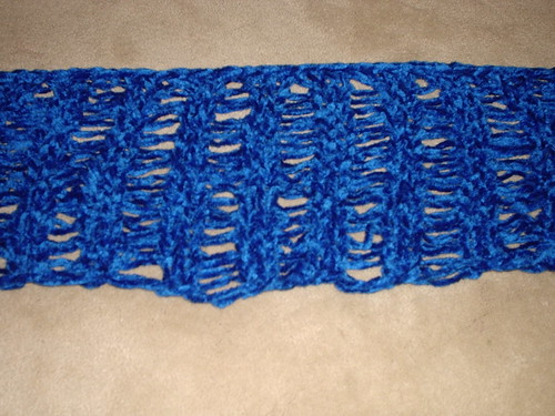 Drop Stitch Chenille Scarf