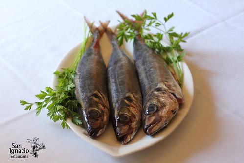 Pescado de menú de mediodía
