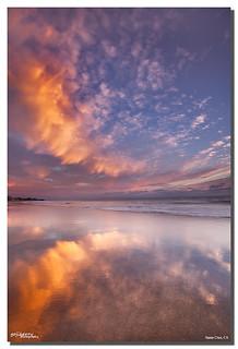 Glassy Reflection at Twin Lakes beach, Santa Cruz, CA