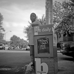 . (patrickjoust) Tags: street city urban bw usa white black 120 6x6 tlr blancoynegro film home analog america square lens us reflex md focus fuji mechanical united north patrick twin maryland baltimore v ami epson medium format states manual 500 joust waverly develop estados 80mm f35 blancetnoir unidos v500 schwarzundweiss fujifilmneopan100acros autaut patrickjoust amiflex amitar developedinxtol11
