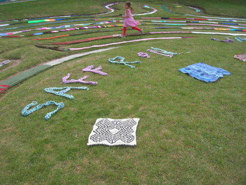 A section of Knitted Maze