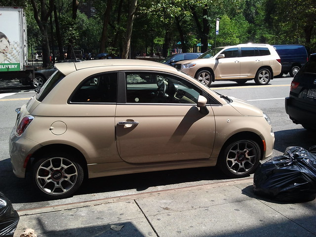Survived my first driving experience in Manhattan thanks to this little fiat.