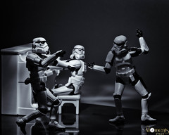 Everybody Dance Now (louisa827) Tags: blackandwhite white black toy toys starwars stormtroopers piano august actionfigures stormtrooper 20 plastictoys