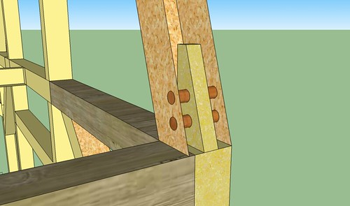 Joinery mortise and tenon roof to second floor detail2