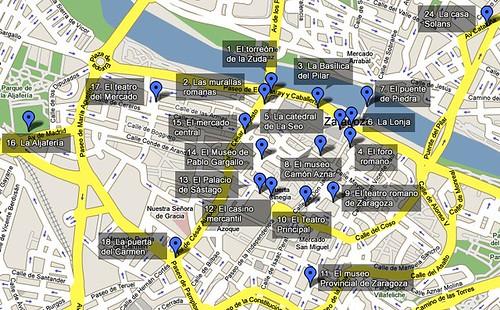 Mapa de Zaragoza