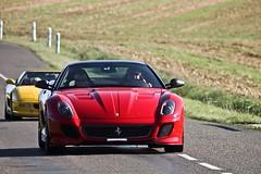 1050cv on the road. (Spot-R28   Autospotters) Tags: canon cheval eos italia ferrari gran gto tamron turismo rosso maranello 70300 500d 599 carbone fasters cabré omologata 670cv