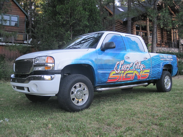 beach graphics huntington wrap 2500hd gmcsierra chevysilverado vinylwrap truckgraphics truckwrap truckwraps surfcitysigns duramaxvinylwrap