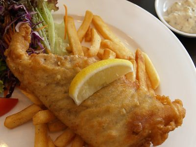 Mahi-mahi fish and chips