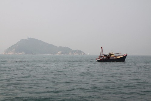 Fishing boat off Sunshine Island in Hong Kong