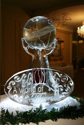 The World in your Hands  ice sculpture