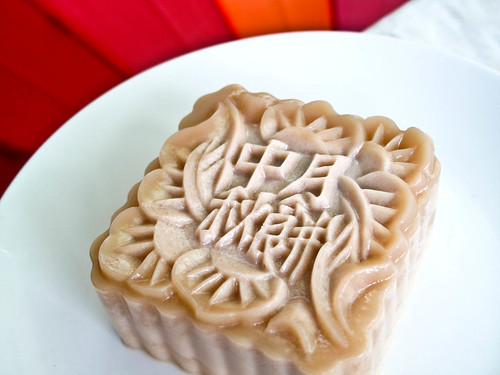 IMG_2390 燕菜红豆玉米月饼 - 2011, Agar-agar mooncake with red beans and corn
