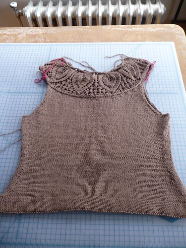Leaf Yoke Top in Progress