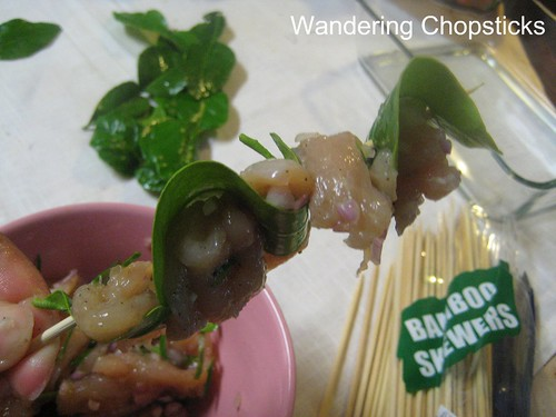 Ga Nuong La Chanh (Vietnamese Grilled Chicken in Kaffir Lime Leaves) 7