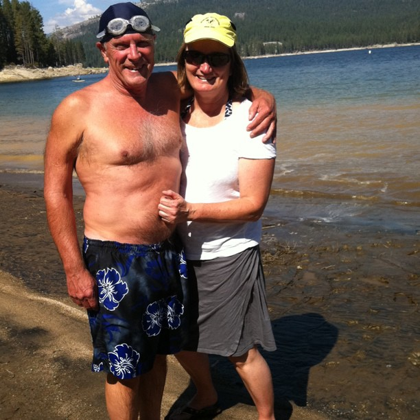 David and Karen at Shaver Lake