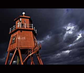 Dramatic lighthouse