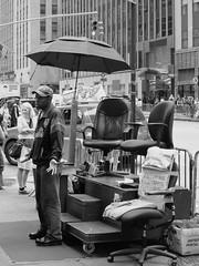 Please... (Fernando Cabalo) Tags: street nyc newyorkcity portrait blackandwhite bw white newyork black blancoynegro blanco silhouette umbrella portraits solitude noir mood shadows retrato manhattan candid negro streetphotography bn lonely soledad miradafavorita