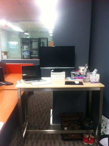 Standing desk at office