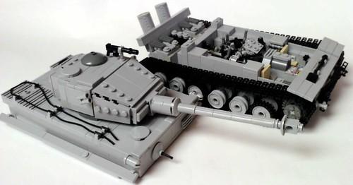 Pzkpfw VI Tiger I tank split