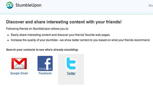 Find or Invite your Friends | StumbleUpon